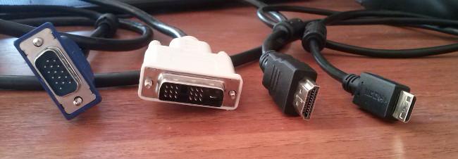 VGA, DVI, HDMI и miniHDMI